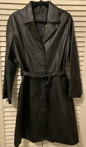 Adult Women's RARE Mercedes-Benz Collection Leather Black Button Jacket