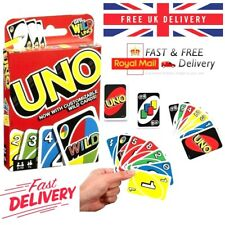 ✅UNO Card Game With Wild Cards Matte Latest Version Family Fun Indoor Party UK✅