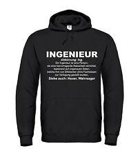 INGENIEUR - Hoodie - Funshirt Spruch Duden Definition Beruf Geschenk Bau Comedy