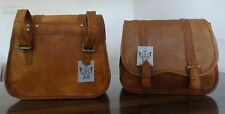 Motorcycle Saddlebags Side Pouch Brown Leather pouch Saddle bag Handmade 2Bag