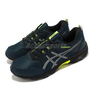 Asics GEL-Venture 8 AWL Blue Silver Yellow Men Running Shoes 1011B316-400