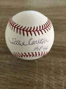 STEVE CARLTON HOF SIGNED GAME AUTOGRAPH BASEBALL PHILADE PHILLIES COA MLB