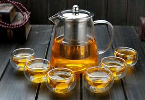 Teapot Cup Kettle Tea Set Pu'er Coffee Tea Pot Stainless Steel Strainer Pot