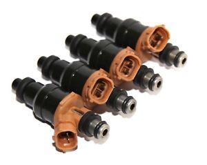 4 Pieces Fuel Injector fit Mazda 90-95 323/94-97Miata /90-95 Protégé 1.8L I4