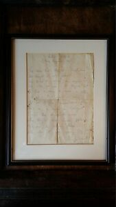 1952 ORIGINAL FRAMED MANUSCRIPT POEM BY JOHN GAWSWORTH - WRITER & POET- BAD GROG