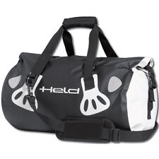 Held Carry-bag Black / White Moto Motorcycle Motorbike Waterproof Pannier | 30 L