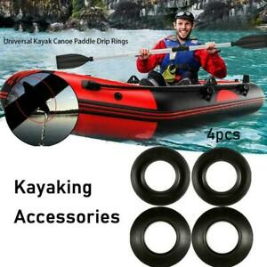 4x Kayak Paddle Drip Rings Guards Universal - Keeps Dry New Shafts/Hands N6V1