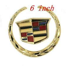 "Fit For Cadillac SRX XLR ATX Front Grille 6"" Emblem Hood Badge Logo Gold Chrome"