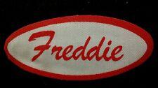 Freddie Vintage 1960s Cursive Name Patch Uniform Shirt Iron On Rare Vhtf Bronx