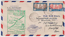 LETTRE 1ER VOL FIRST FLIGHT NOUMEA NELLE CALEDONIE HONOLULU HAWAII 1940 AIR MAIL