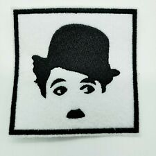 """CHARLIE CHAPLIN Embroidered Iron On Patch 3 """" X 3 """" MOVIES THE TRAMP ACTOR"""