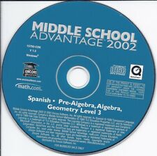 Middle School Advantage 2002 - Spanish Pre-Algebra Algebra Geometry level 3 Cd