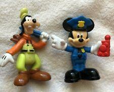 Small Mattel Plastic Disney Figures Mickey And Goofy