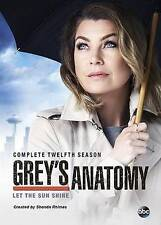 Grey's Anatomy: The Complete Twelveth Season 12  DVD NEW