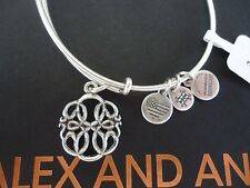 Alex and Ani PATH OF LIFE IV Russian Silver Charm Bangle New W/Tag Card & Box