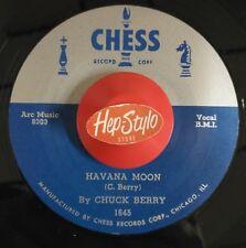 CHUCK BERRY/RENE TOUZET RE 45-HAVANA MOON/EL LOCO CHA CHA-CHESS 50s EXOTICA HEAR