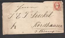 Austria 1878 cover front Nixdorf to E T Sieckel Nordhausen Thuringen