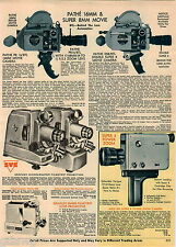 1968 ADVERT Pathe 16MM Super 8MM Movie Cameras Nizo Graflex Projector