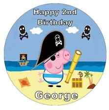 "George PIG PEPPA PIG personalizzato 7.5 ""CAKE TOPPER COMMESTIBILI WAFER CARTA"