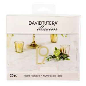 David Tutera Gold Metal Table Numbers Pack Of 25 Pieces Wedding Reception Event
