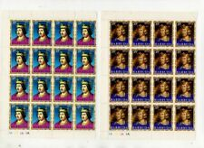 More details for 1970-1971 barbuda full set of 37 sheets of mnm stamps