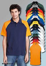 KARIBAN Hombre Béisbol Camiseta Polo de Manga Corta Talla S HASTA 4XL Camisa