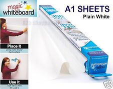 More details for magic white board a1 sheet dry wipe drawing large plain roll self vinyl sticky