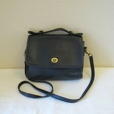 Coach Vintage Satchel Small Dark Blue Leather No. 9870 Purse Handbag