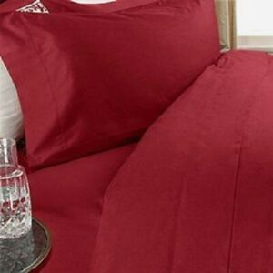 Queen Size Red Solid 4 Piece Sheet Set 1000 Thread Count 100% Egyptian Cotton