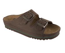 Scholl Air Bag Sandals Slippers Clogs in Dark Brown Nubuck UK8 EU42