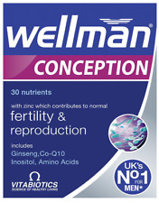 Vitabiotics Wellman Conception Fertility For Men, 30 Tablets TRYING FOR A BABY