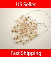 100PC Earring Backs Post Backings Stopper Silver Golden Stud Secure Hook Earring