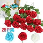 Artificial Rose Bouquet Silk Fake Flowers Head Wedding Party Home Decor With Box