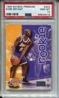 1996 Skybox Premium Basketball #203 Kobe Bryant Rookie Card Graded PSA 10 Lakers