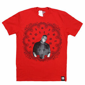 "NEW Invisible Bully ""War Paint"" Mens T Shirt Red Notorious BIG Biggie Smalls NYC"