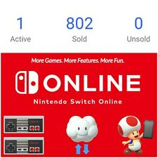 ⚡Nintendo Switch Online Membership 12 months (Expiry Date: 25 OCT 2021)