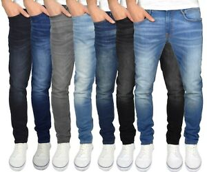 Duck & Cover Men's Straight Leg Slim Fit Stretch Distressed Maylead Jeans
