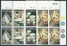 SAMOA 1985 FUNGI set plate blocks of 4 MNH.................................41442