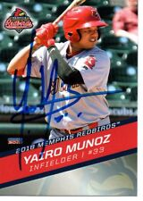 Yairo Munoz 2018 Memphis Redbirds Cardinals Signed Card