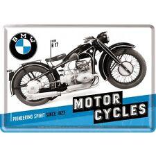 BMW TIMELINE Carte postale métal Panneau en tôle 10x14 cm 10284 Atelier/garage