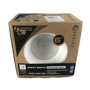 "Lithonia Lighting 6"" White Recessed Remodel Baffle Downlight 6BPMW LED P-Series"
