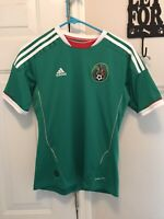 Adidas Mexico National Team Javier Chicharito Hernandez 14 Green Soccer Jersey S