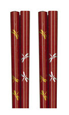 """2 Pair 9""""L Japanese Wooden Lacquer Hair Stick Chopsticks Dragonfly Made in Japan"""