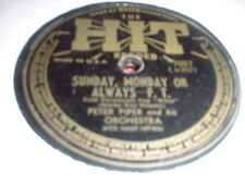 78RPM 2 Hits by Peter Piper, If U Please /Sunday Monday, Widow Brown,Id Do It V