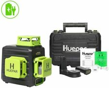 Niveau Laser Huepar Vert à 3×360 avec Batterie Li-ion Rechargeable Laser Level