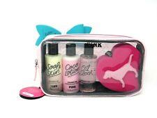 Victoria's Secret Pink Travel Pack Coconut Oil Body Care Bag, Sponge, New w/ Tag