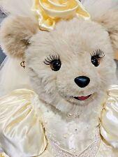 """Tilly Queen Ball Royal Princess BIG 26"""" White Teddy Polar Bear Plush Yellow Gown"""