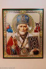 St Nicholas   Russian Orthodox Church Icon Святой Николай Икона 15X18cm