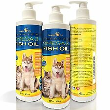 TerraMax Pro Fish Oil Supplements Liquid Omega-3 Fish Oil for Dogs and Cats, 16
