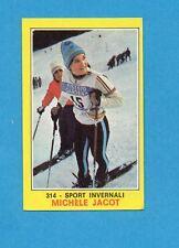 CAMPIONI dello SPORT 1970-71-Figurina n.314- JACOT -SPORT INVERNALI-NEW